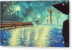 Evening Rain Acrylic Print by Samantha Ramsay Behrman