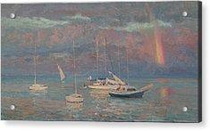 Evening Rainbow Acrylic Print by Korobkin Anatoly