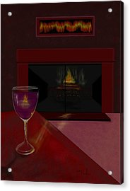 Evening Reflection Acrylic Print by William  Paul Marlette