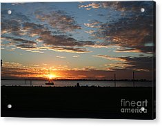Evening Relaxation Acrylic Print by Laura Paine