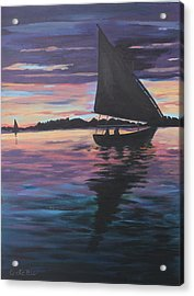 Evening Sail Acrylic Print by Jane Croteau