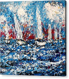 Evening Sailing Acrylic Print