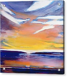 Evening Seascape Acrylic Print by Lou Gibbs