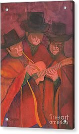 Acrylic Print featuring the painting Evening Serenade by Sandy Linden
