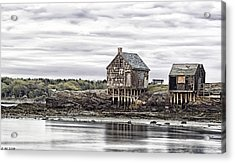 Evening Shacks Acrylic Print