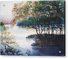 Evening Shadows Acrylic Print by Judy Meng