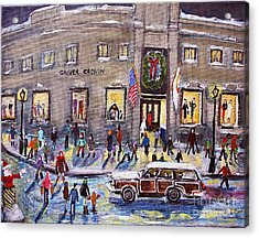 Evening Shopping At Grover Cronin Acrylic Print