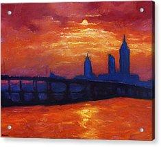 Evening Skyline Mobile Acrylic Print