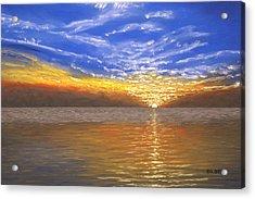 Evening Splash Acrylic Print