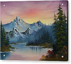 Evening Splendor Acrylic Print by C Steele