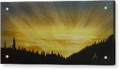 Acrylic Print featuring the painting Evening Splendour by Gigi Dequanne
