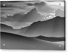 Evening Stillness - White Sands - Black And White Acrylic Print by Nikolyn McDonald