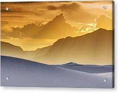 Evening Stillness - White Sands Sunset Acrylic Print by Nikolyn McDonald