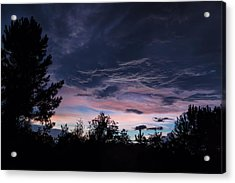 Evening Storm Acrylic Print by Maria Robinson