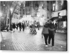 Evening Stroll In Paris Acrylic Print by Hugh Smith