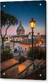 Evening Stroll In Rome Acrylic Print by W Chris Fooshee