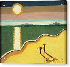 Evening Sun,2010 Oil On Canvas Acrylic Print