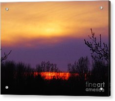 Evening Sunset Lake Acrylic Print