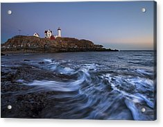Evening Surf At Nubble Acrylic Print