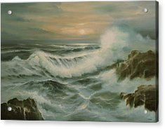 Evening Tide Acrylic Print by Richard Hinger