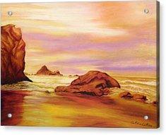 Evening Twilight   Pastel Acrylic Print by Antonia Citrino