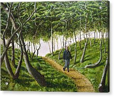 Acrylic Print featuring the mixed media Evening Walk by Kenny Henson