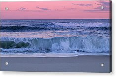 Evening Waves - Jersey Shore Acrylic Print
