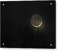 Evening Waxing Crescent Moon Acrylic Print