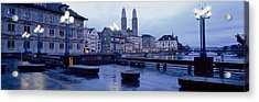 Evening, Zurich, Switzerland Acrylic Print by Panoramic Images