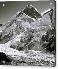 Everest Sunrise Acrylic Print by Shaun Higson