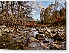Everett Rd Covered Bridge Acrylic Print by Jack R Perry