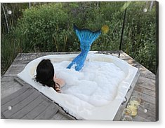 Everglades City Florida Mermaid 018 Acrylic Print