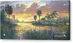 Everglades Sunrise Acrylic Print by Laurie Hein