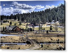 Evergreen Colorado Lakehouse Acrylic Print by Ron White