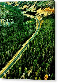 Evergreen Highway Acrylic Print by Benjamin Yeager