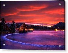 Evergreen Lake Sunrise Acrylic Print