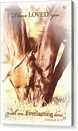 Everlasting Love Acrylic Print by Lincoln Rogers