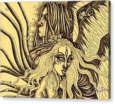 Evermore Sketch Acrylic Print by Coriander  Shea