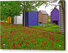 Every Garden Needs A Shed And Lawn In Les Jardins De Metis/reford Gardens-qc Acrylic Print by Ruth Hager