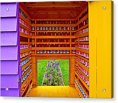 Every Garden Needs A Shed And Lawn Three In Reford Gardens Near Grand-metis-qc Acrylic Print by Ruth Hager