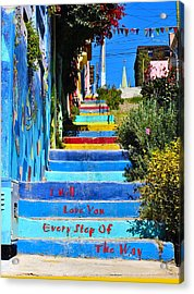 Every Step Acrylic Print by Kurt Van Wagner