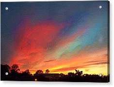 Every Sunset Is A Gift Acrylic Print by Rick Todaro