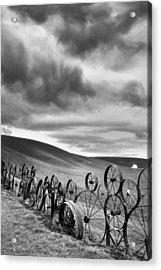 Every Wheel Has A Story Acrylic Print by Ryan Manuel