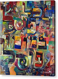Everyone That Discounts Another It Is With His Own Fault That He Discounts The Other Acrylic Print by David Baruch Wolk