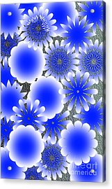 Every Blue Snowflakes Acrylic Print by Tina M Wenger