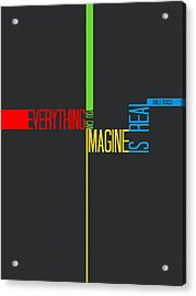 Everything You Imagine Poster Acrylic Print by Naxart Studio