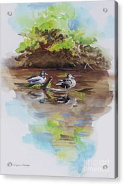 Everythings Just Ducky Acrylic Print by Suzanne Schaefer