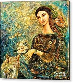 Eve's Orchard Acrylic Print by Shijun Munns