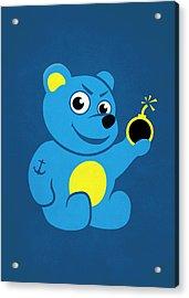 Evil Tattooed Teddy Bear Acrylic Print