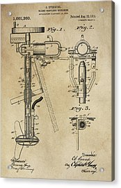 Evinrude Outboard Marine Engine Patent  1910 Acrylic Print by Daniel Hagerman